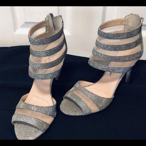 Nina brand Silver Sparkle Heels